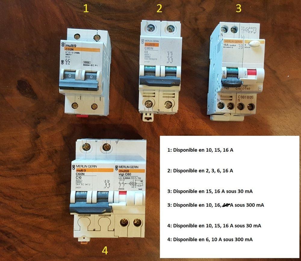 Lot Disjoncteur, interrupteur, differentiel 220v  8 Misy-sur-Yonne (77)