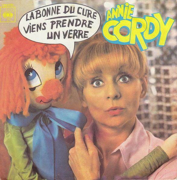 Disque 45 tours Annie Cordy - La bonne du curé 5 Aubin (12)