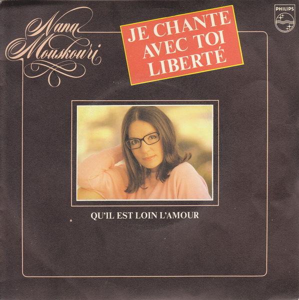 Disque 45 tours Nana Mouskouri - Je chante avec toi liberté 5 Aubin (12)