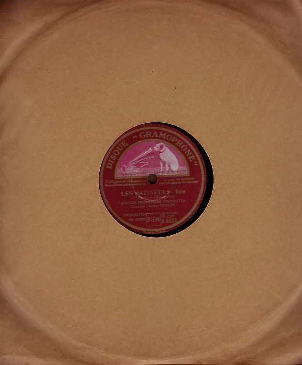 Disque Vinyl BOSTON PROMENADE ORCHEST 78 tours LES PATINEURS 4 Antony (92)