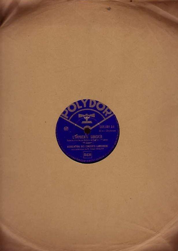 Disque Vinyl CONCERTS LAMOUREUX 78 tours L'APPRENTI SORCIER 4 Bagnolet (93)