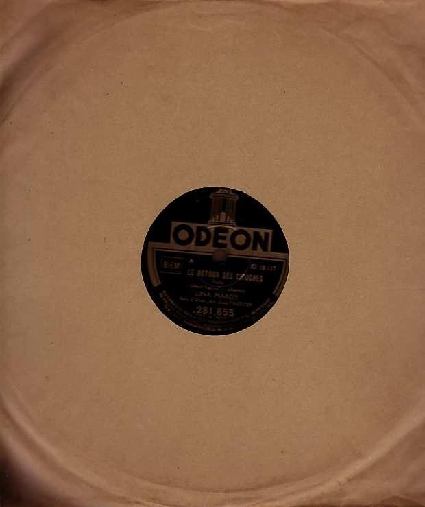 Disque Vinyl LINA MARGY 78 tours COEUR D'OISEAU + RETOUR CIG 4 Antony (92)
