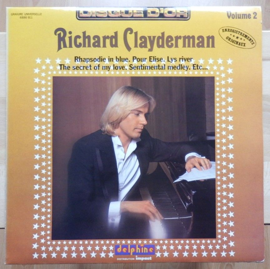 Disque 33 T vinyle - Richard Clayderman vol 2 : TBE 3 Évry (91)