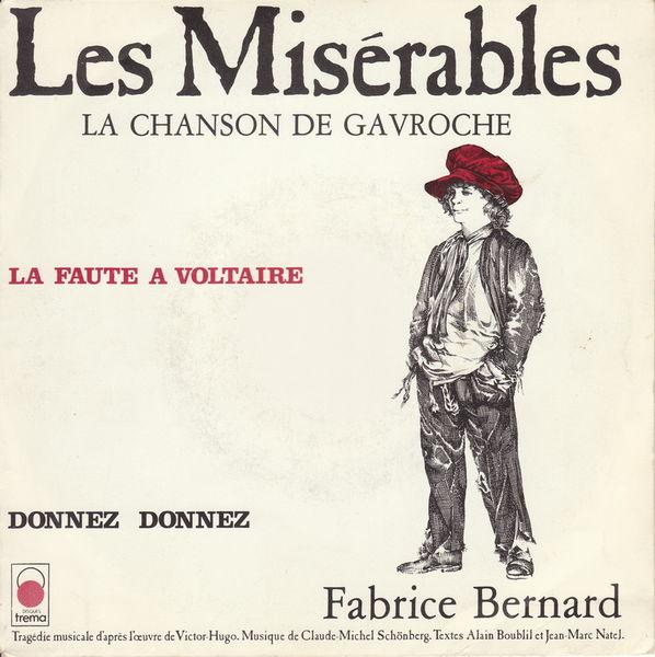 Disque vinyle 45 tours Les Misérables 5 Aubin (12)