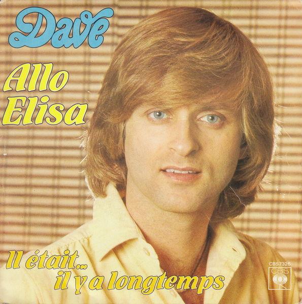 Disque vinyle 45 tours Dave - Allo Elisa CD et vinyles