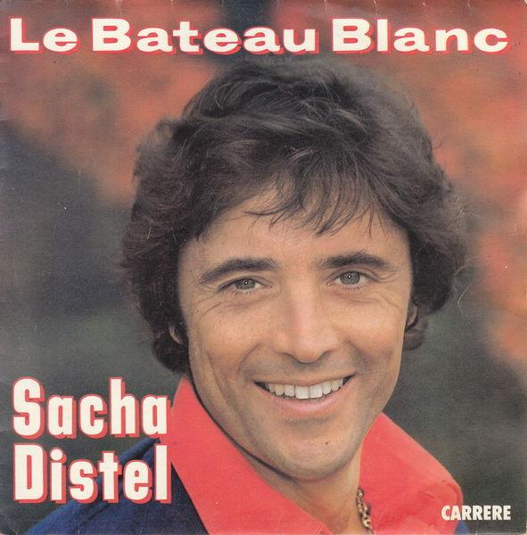 Disque vinyle 45 tours Sacha Distel - Le bateau blanc 5 Aubin (12)