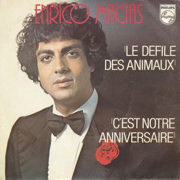 Disque vinyle 45 tours Enrico Macias- Le défilé des animaux 5 Aubin (12)