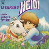 Disque vinyle 45 tours La chanson d'Heidi 5 Aubin (12)