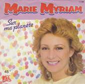 Disque vinyle 45 tours Marie Myriam - Sur ma planète 5 Aubin (12)