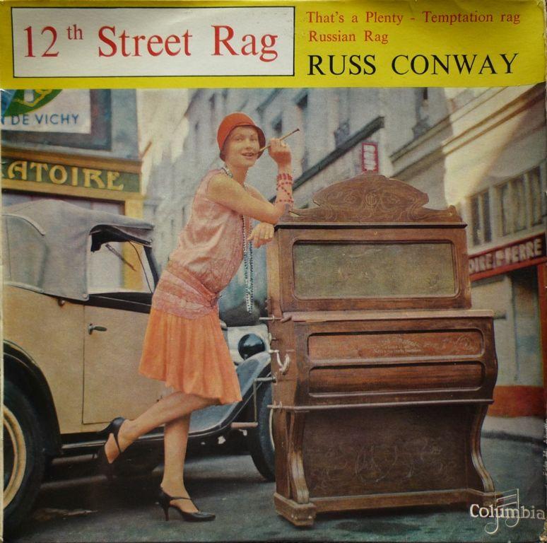 Disque vinyle 45 tours car cover - Russ CONWAY  2 Paris 13 (75)