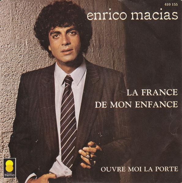 Disque vinyle45tour Enrico Macias- La France de mon enfance CD et vinyles