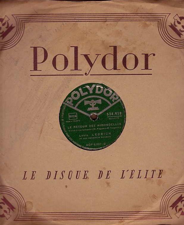 Disque VinyLOUIS LEDRICH 78 tours PERLES DE CRISTAL + RETOUR 4 Bagnolet (93)