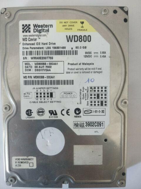 DISQUE DUR WD800 Matériel informatique