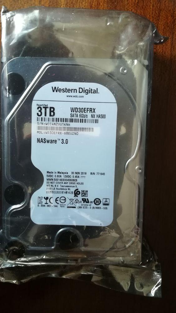 Disque dur 3 TO RED Western Digital  80 Villenoy (77)