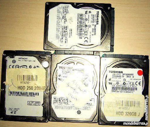4 disques durs sata Toshiba 320Gb et 250 à reparer 35 Versailles (78)