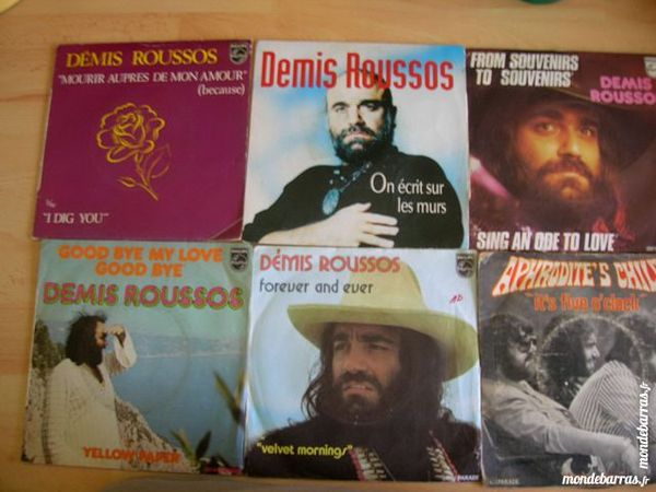 LOT 6 Disques 45 TOURS DEMIS ROUSSOS/APHRODITE'S C CD et vinyles