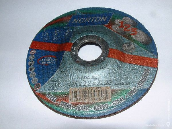Lot de 10 Disques à tronçonner NORTON 125X2,2mm 15 Farschviller (57)
