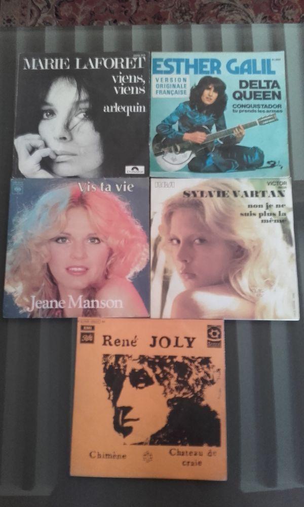 Lot de 5 disques vinyle 45 tours ( années 70, début 80) 10 Saint-Martin-de-la-Brasque (84)
