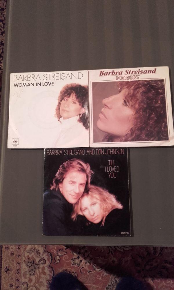 Lot de 3 disques vinyle 45 tours Barbra Streisand  6 Saint-Martin-de-la-Brasque (84)