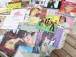 Lot de 40 disques vinyles CD et vinyles