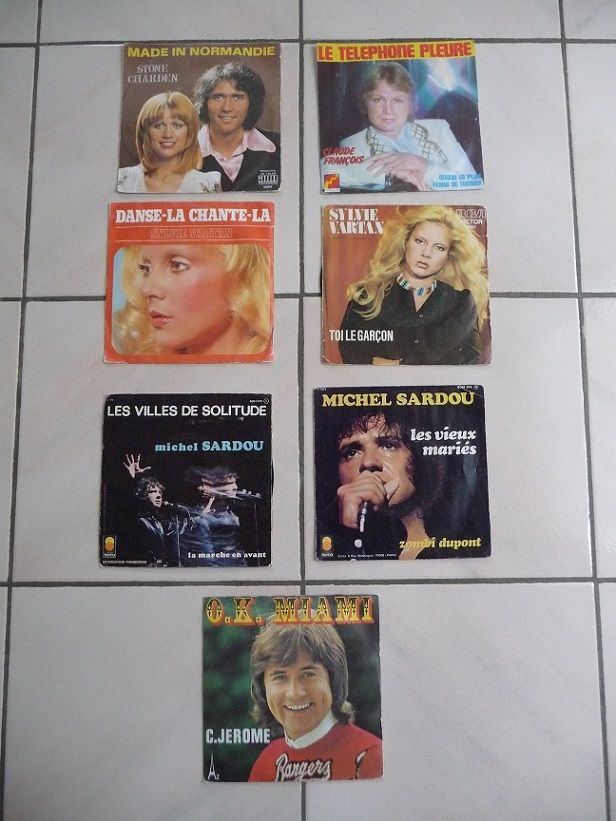 13 disques vinyls 45 T 26 Montigny-le-Bretonneux (78)
