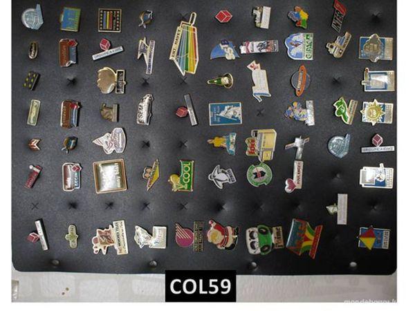 Lot de 60 PIN'S divers 10 Mons-en-Barœul (59)