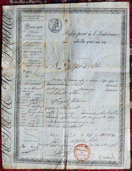 Documents anciens 19° siècle 30 Nordheim (67)