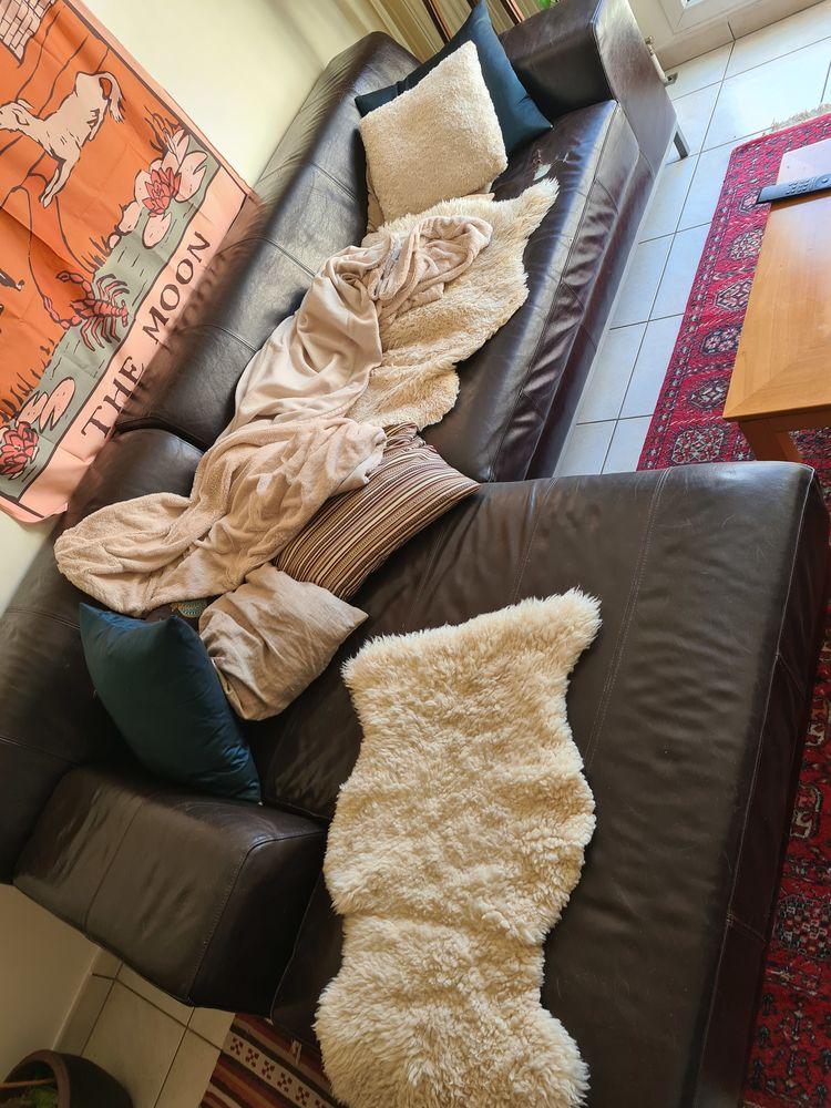 donne canapé en cuir marron Ikea d'angle  0 Bussy-Saint-Martin (77)