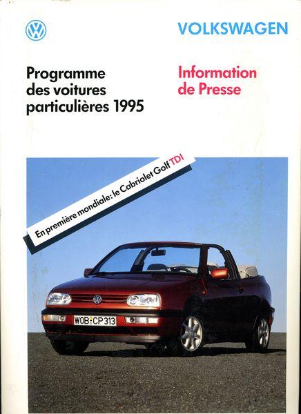 Dossier de presse Volkswagen 1993 21 Saint-Étienne (42)