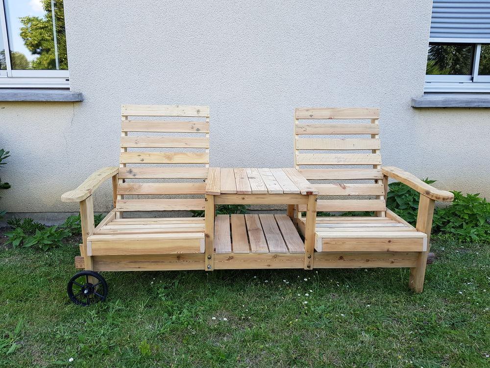 double fauteuil avec table en bois 200 Viry-Châtillon (91)
