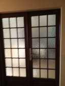 double-porte de séparation en chêne et vitrée 20 Treuzy-Levelay (77)
