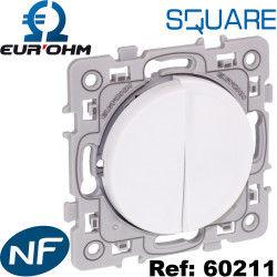 Double poussoirs SQUARE neufs certifié NF EUROHM Bricolage