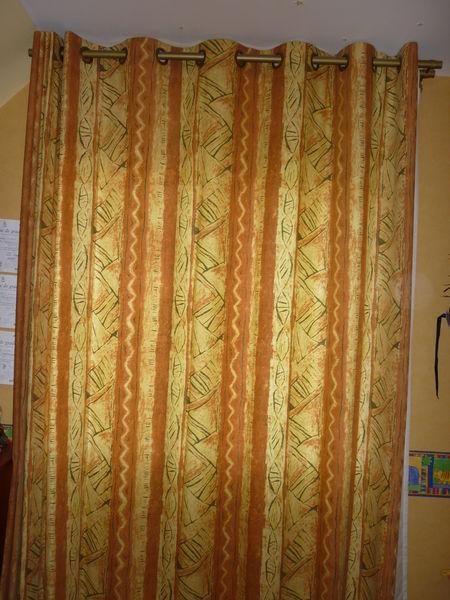 double rideaux ocre jaune 10 Séné (56)
