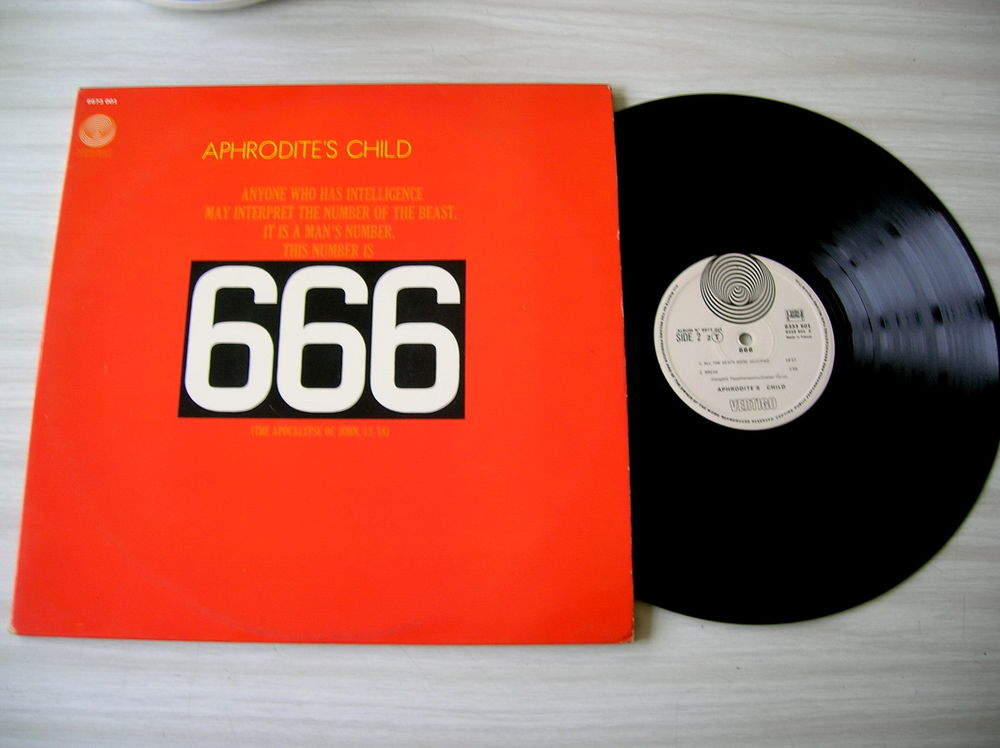 Double 33 Tours APHRODITE'S CHILD 666 CD et vinyles