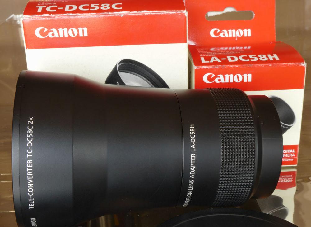 Doubleur de focale photo CANON TC-DC58C & adaptateur 59 Cannes (06)