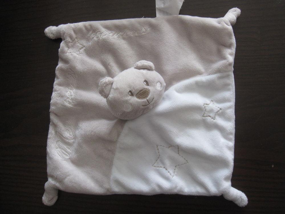 Doudou carré plat beige kimbaloo mes petits copinous 8 Saint-Jean-Pla-de-Corts (66)