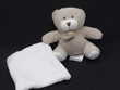 Doudou compagnie DC2026 ours bonbon taupe avec mouchoir