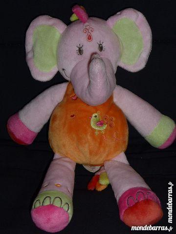 DOUDOU éléphant rose/orange oiseau NICOTOY 5 Rueil-Malmaison (92)