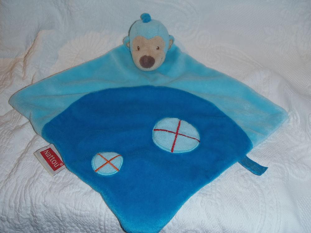 doudou singe bleu nattou 10 Bayonne (64)