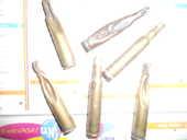 lot de 6 douilles vides en cuivre 5 Auxon (10)