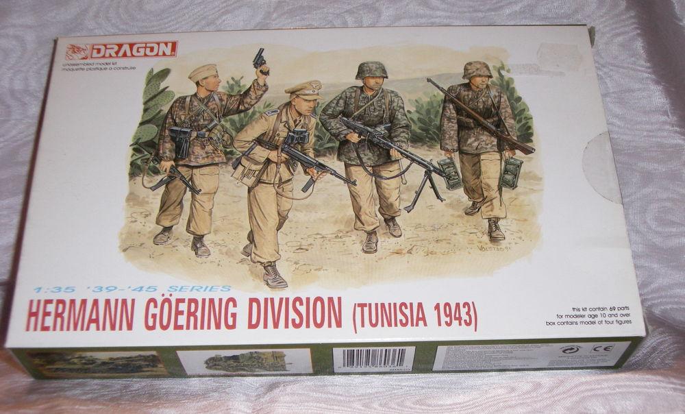 DRAGON 6036 HERMANN GOERING DIVISIO TUNISIA 1943 1.35 NEUF E 14 Sergines (89)
