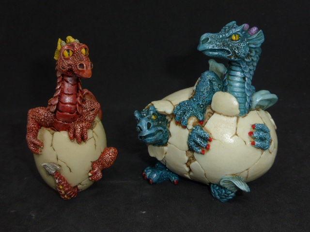 Lot 2 dragons en résine dans oeuf 20 Rueil-Malmaison (92)
