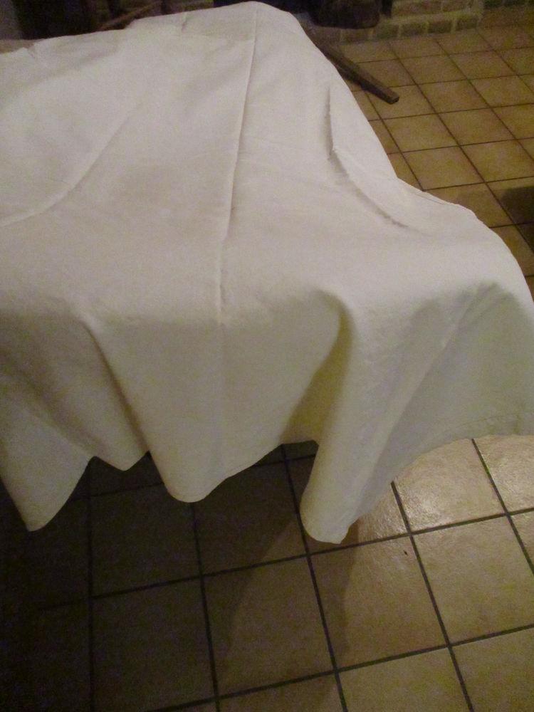 drap blanc en coton 1 m 90 x 1 m 60 environ 10 Mérignies (59)