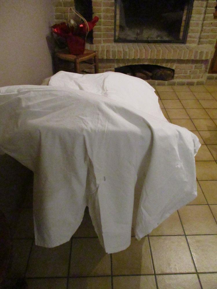 drap blanc coton fin 2 m 50 x 1 m 70 . pour tout 0 Mérignies (59)