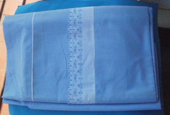 Drap plat  DESCAMPS L'AINE largeur 2m40 - Bleu clair 40 Montauban (82)