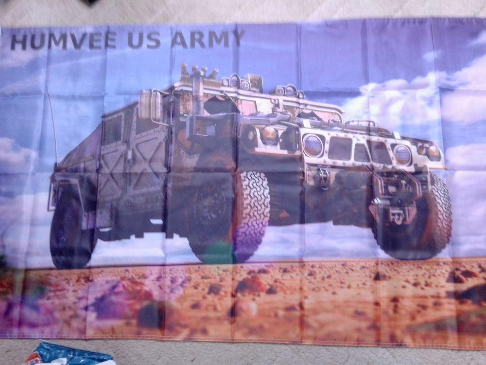 Drapeau Humvee US Army, neuf 25 Saint-Hernin (29)