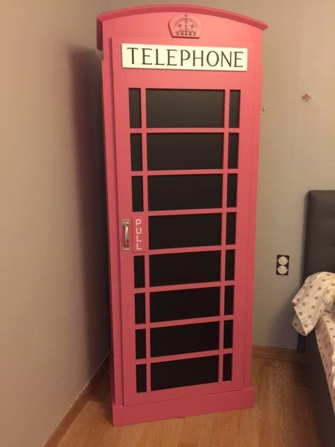 Dressing original - cabine téléphonique anglaise rose 0 Taden (22)