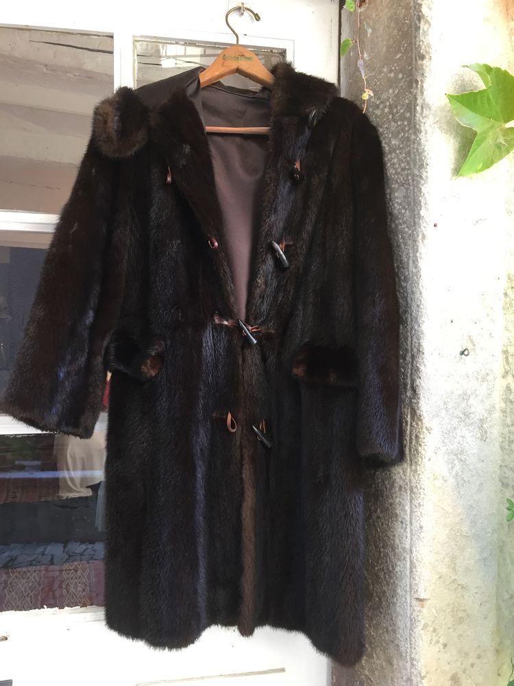 Duffle coat en vison Vêtements
