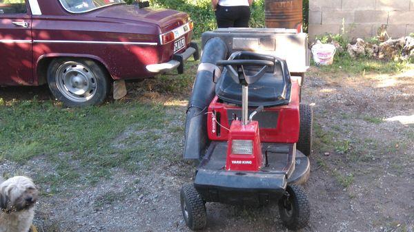 V ou échange tracteur tondeuse avec bac de ramassage  1 Aubin (12)