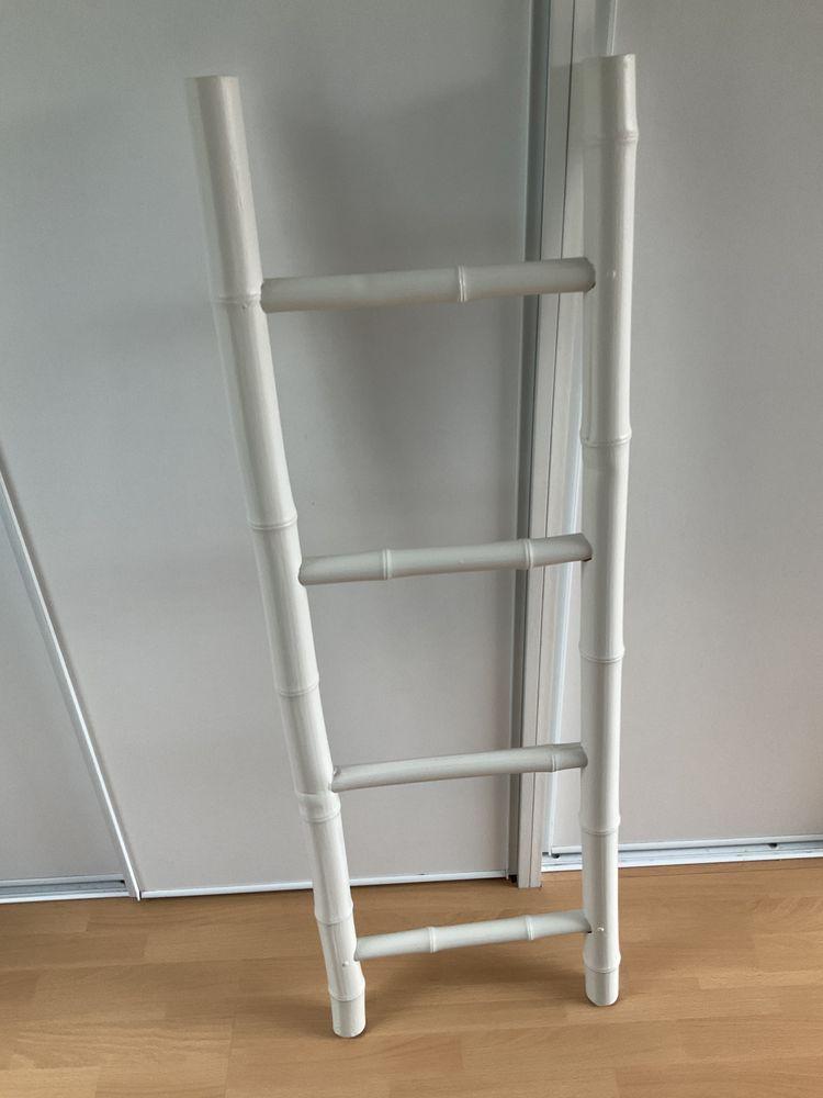 Échelle pour déco très bon état blanche 15 Steenvoorde (59)